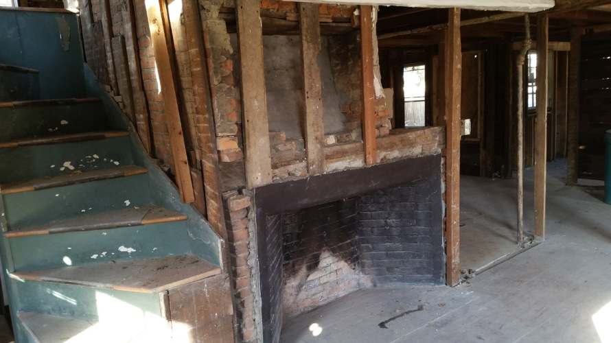Fireplace in an early Massachusetts house