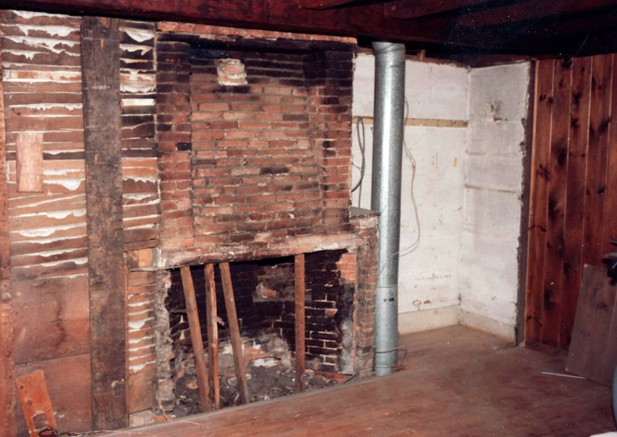 Rumford fireplaces were predominant in the first half of the 19th Century.