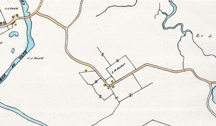 The 1910 Ipswich map shows the owner as E. M. Haskell