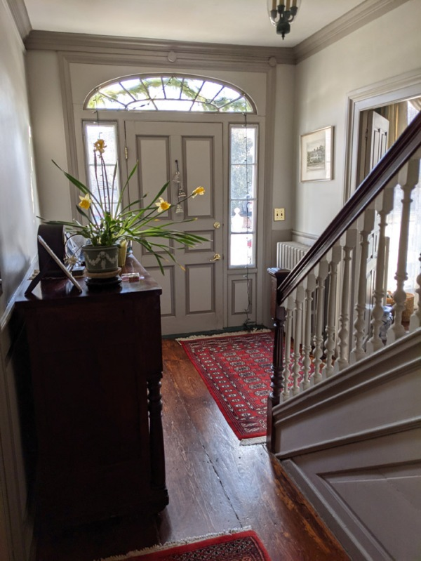 Front entrance in the Captain Richard Rogers house, 58 N. Main St., Ipswich MA