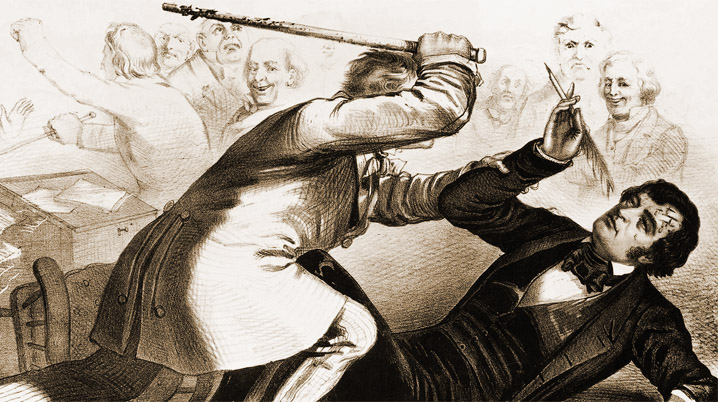 The Caning of Senator Charles Sumner