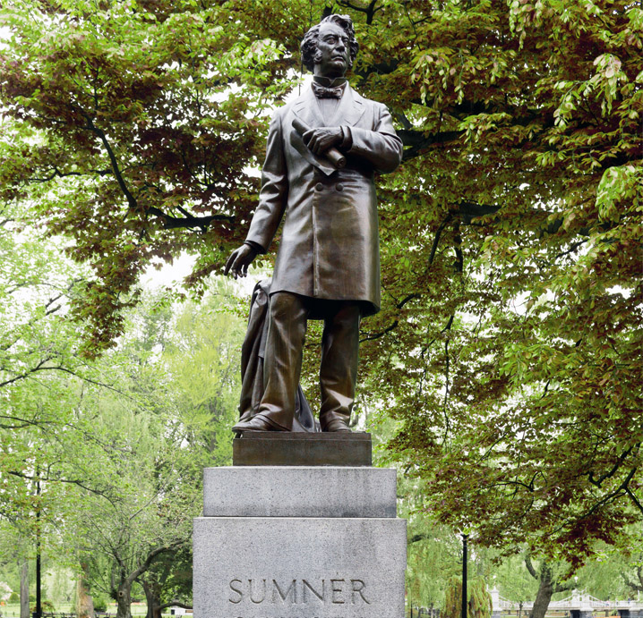 Statue of Charles Sumner in Boston Garden