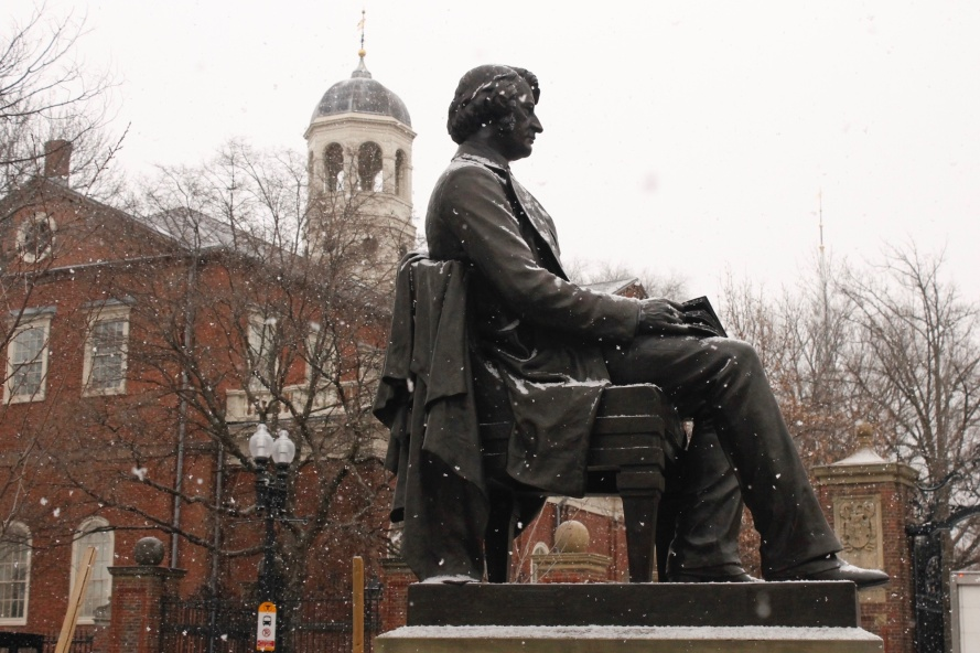 Statue of Charles Sumner in Cambridge