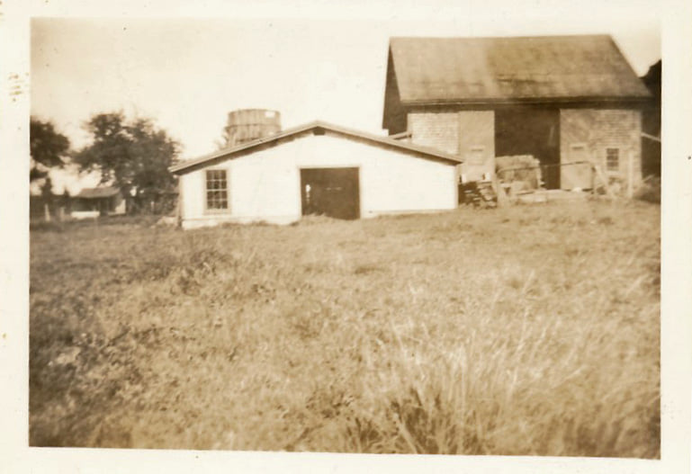 Barn that stood behind the Shatswell house