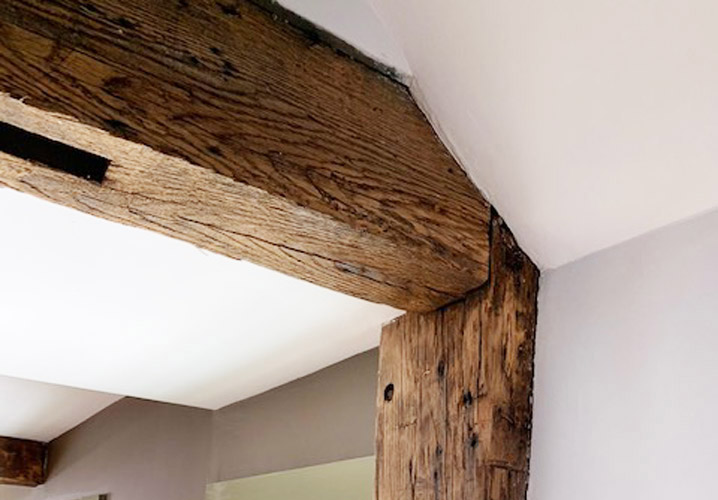 Post and beam at 6 N. Main St. in Ipswich