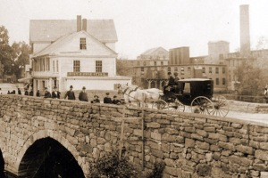 Stagecoach on the Choate Bridge