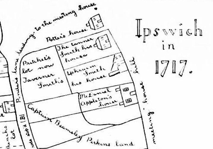 Copy of map drawn in case against Captain Beamsley Perkins