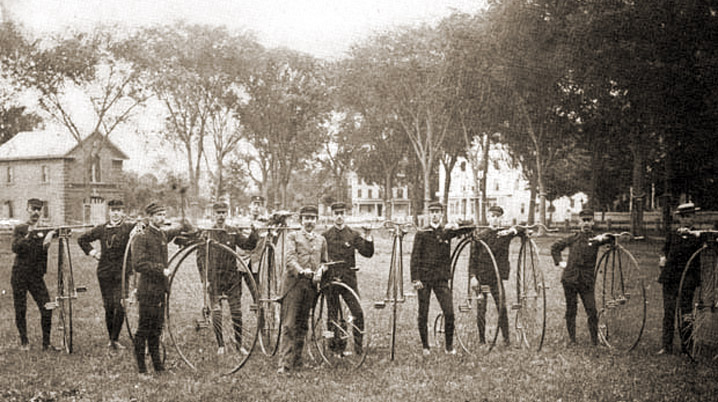Cyclists on Wakefield Common in 1890