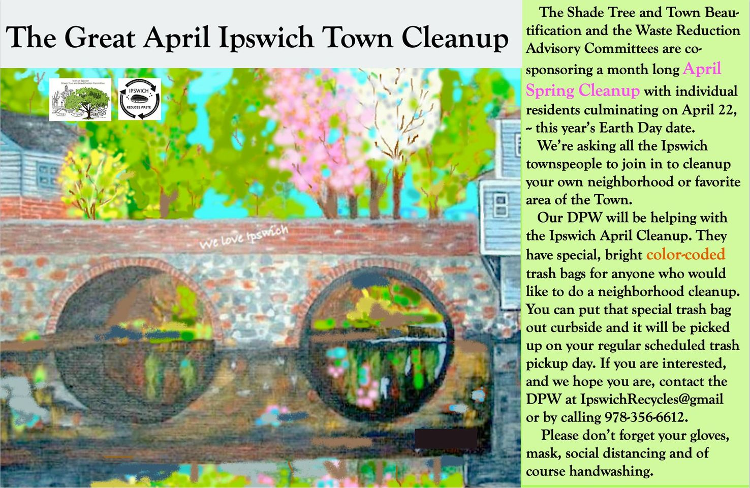 Ipswich Earth Day cleanup