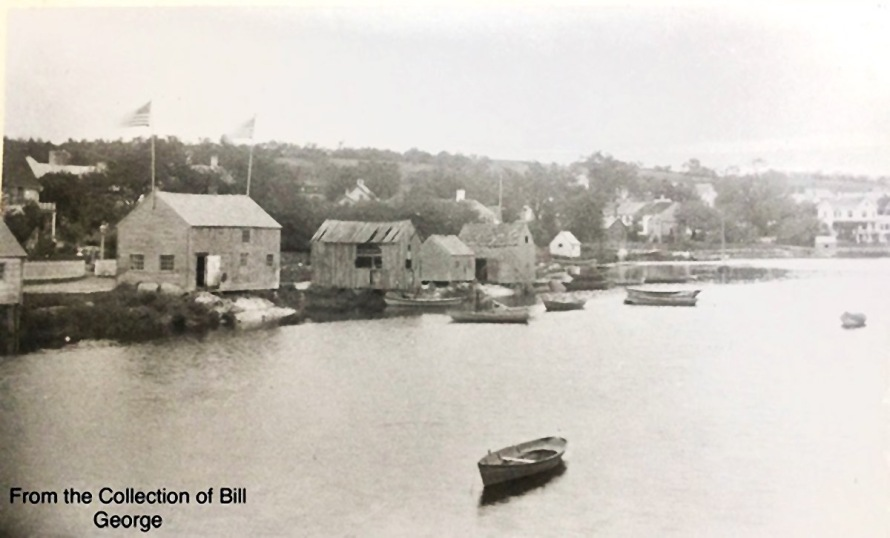 Clam shacks and barns on Water Street in Ipswich
