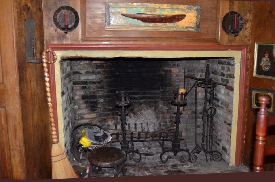 Front downstairs right fireplace, 115 High St.