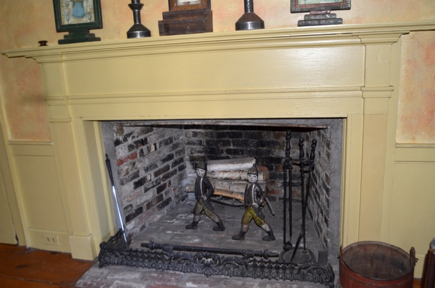 Upstairs bedroom fireplace at 115 High St.
