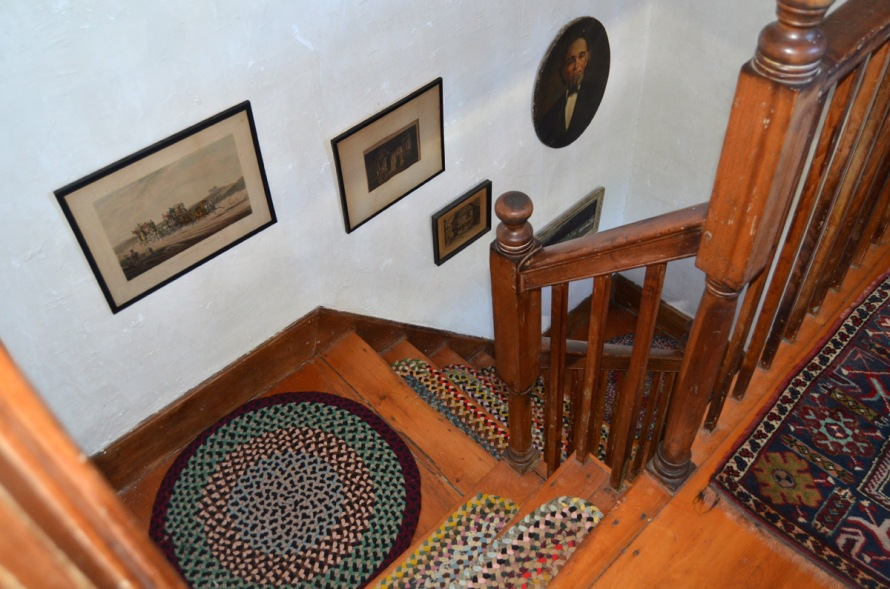 Front stairway (view from the top) at 115 High St.