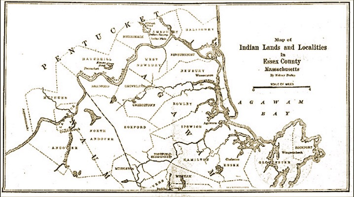 Map of Indian Lands by Sidney Perley
