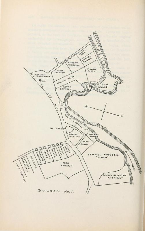 Map 1 of the settlers' lots in Ipswich