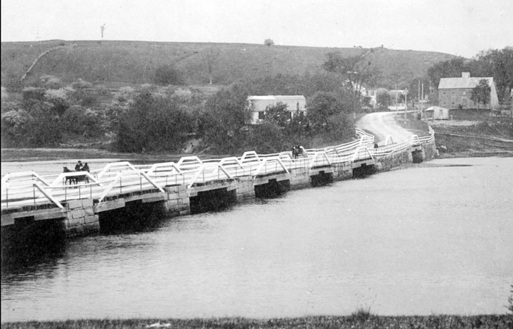 Fugitive slaves were transported from Ipswich to the Parker River bridge in Newbury, where Richard Plummer met them with his wagon to take them to the next location on the Underground Railroad. Image by Wilbur H. Siebert.